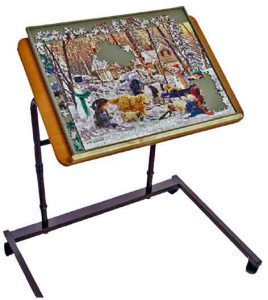 Jitthings jig table jigsaw puzzle table