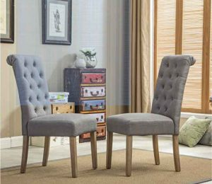 Roundhill-Furniture-Habit Parsons Dining Chair